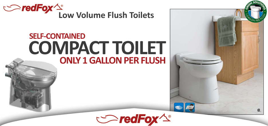 Marine Toilets: Compact Self Contained Toilets, Redfox Environmental